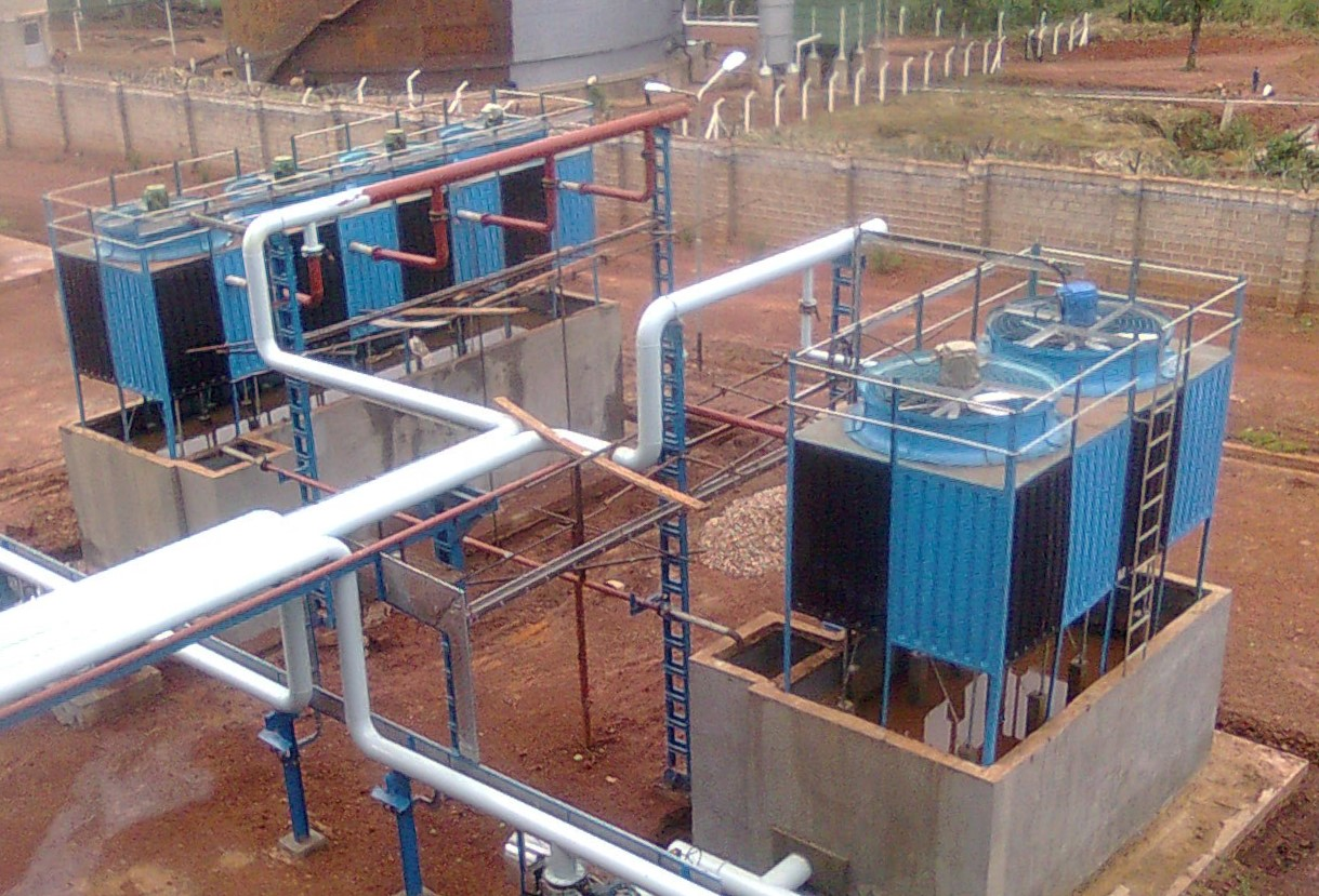 Pultruded FRP counter flow Cooling Tower