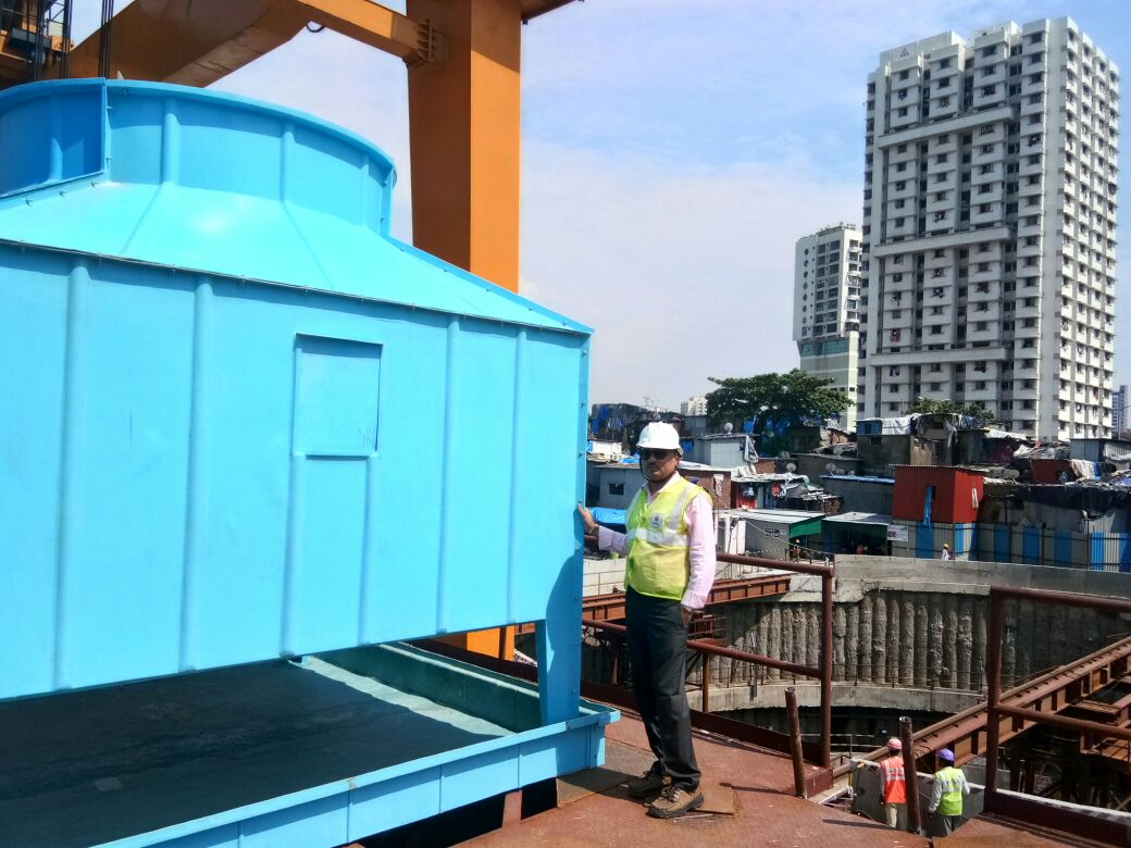 FRP Cooling Tower at Mumbai Metro - Mahim